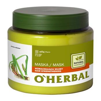 O`Herbal, maska wzmacniająca włosy, ekstrakt z korzenia tataraku, 500 ml