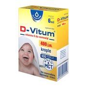 D-Vitum, witamina D dla niemowląt, 6 ml (krople)