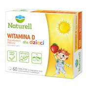 Naturell Witamina D dla dzieci, tabletki, 30 szt.