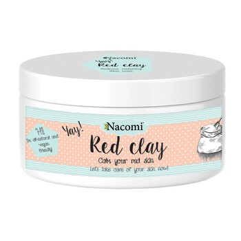 Nacomi, czerwona glinka, maska rozjaśniająca, 100 ml
