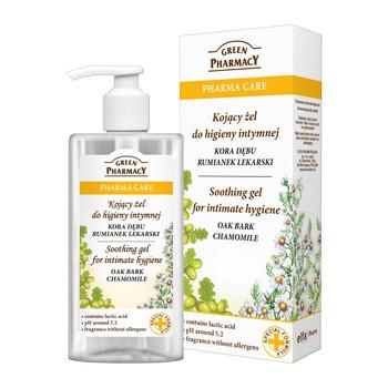 Green Pharmacy, kojący żel do higieny intymnej, kora dębu i rumianek, 300 ml
