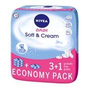Nivea Baby Soft & Cream, chusteczki dla niemowląt, 4 x 63 szt. (3 opakowania + 1 GRATIS)