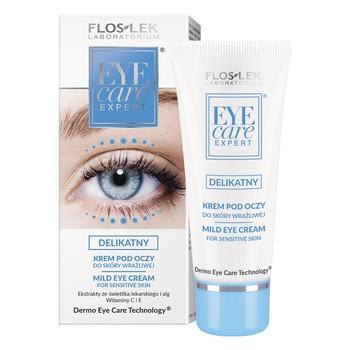 FlosLek Laboratorium Eye Care, delikatny krem pod oczy do skóry wrażliwej, 30 ml