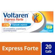 Voltaren Express Forte, 25 mg, kapsułki miękkie, 20 szt.