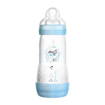 MAM Anti-Colic, butelka antykolkowa 4 m+, szybki przepływ, niebieska, 320 ml
