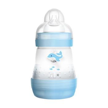 MAM Anti-Colic, butelka antykolkowa 0 m+, wolny przepływ, niebieska, 160 ml