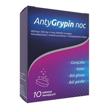 AntyGrypin noc, tabletki musujące, 10 szt.
