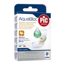PiC Aquabloc, antybakteryjne plastry opatrunkowe, medium, 19 x 72 mm, 20 szt.