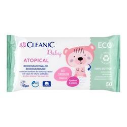 Cleanic Baby Atopical, chusteczki nawilżane dla niemowląt i dzieci, 50 szt.