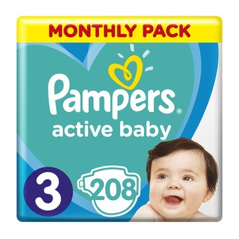 Pampers Active Baby 3, (6-10 kg), 208 szt.