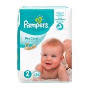 Pampers ProCare, pieluchy dla dzieci, rozmiar 2, (3-6 kg), 36 szt.