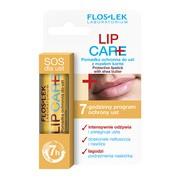 FlosLek Laboratorium Lip Care, pomadka ochronna do ust z masłem karite, 1 szt
