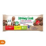Zdrowy Lizak Chocco-Wow, smak kakaowy, lizaki, 40 szt.