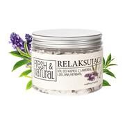 Fresh&Natural, relaksująca sól do kąpieli z lawendą i zieloną herbatą, 500 g