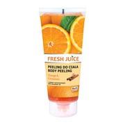 Fresh Juice, żel peelingujący do ciała, orange & cinnamon z ekstraktem z pomarańczy i olejem cynamonowym, 200 ml