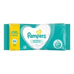 Pampers Sensitive, chusteczki nawilżane dla niemowląt, 80 szt.