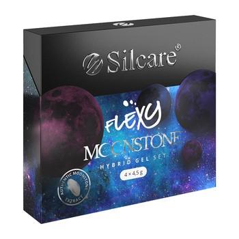 Silcare Flexy Moonstone, zestaw 4 lakierów hybrydowych, 4 x 4,5 g
