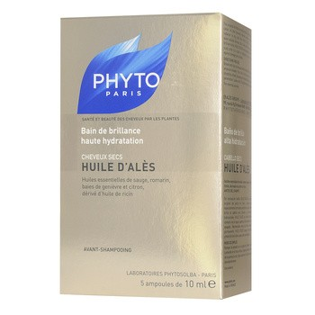 Phyto Huile D'Ales, intensywnie nawilżająca kuracja w olejku, włosy suche, 10ml x 5 ampułek