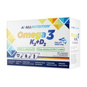 Allnutrition Omega 3 K2 + D3, kapsułki, 30 szt.