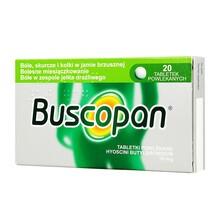Buscopan, 10 mg, tabletki powlekane, 20 szt.