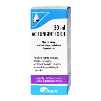 Acifungin forte, płyn na skórę, wały okołopaznokciowe i paznokcie, 30 ml
