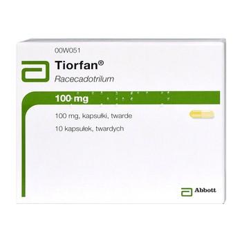 Tiorfan, 100 mg, kapsułki twarde, 10 szt.