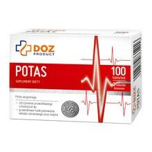 DOZ PRODUCT Potas, tabletki powlekane, 100 szt.