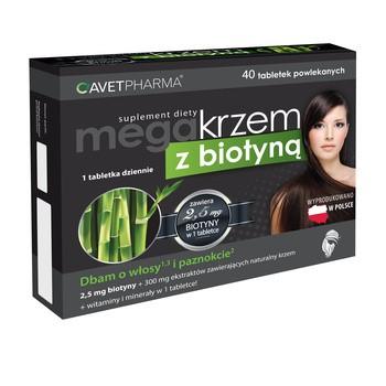 Mega Krzem z biotyną, tabletki powlekane, 40 szt.