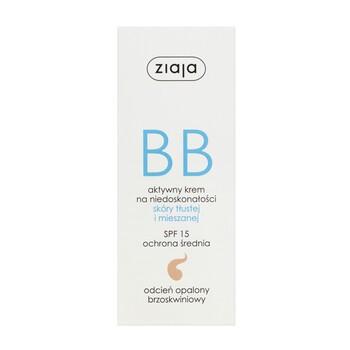 Ziaja BB, aktywny krem na niedoskonałości, skóra tłusta/mieszana, odcień opalony, 50 ml