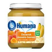 Humana 100% Organic Deserek, morela-banan, 125 g