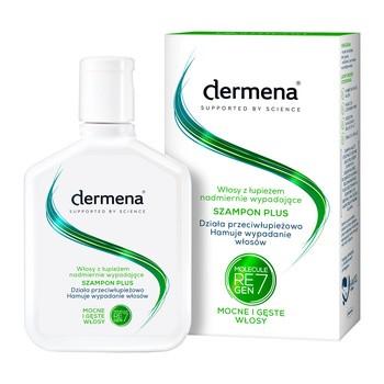 Dermena Hair Care, Plus, szampon przeciwłupieżowy hamujący wypadanie włosów, 200 ml