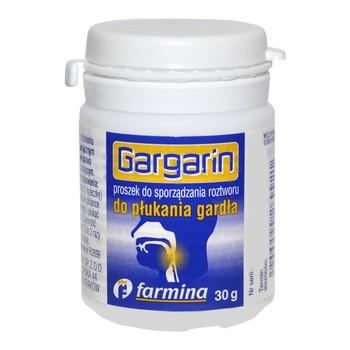 Gargarin, proszek do sporządzenia płynu do płukania gardła, 30 g