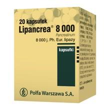 Lipancrea, kapsułki, 8000 j. lipazy, kapsułki, 20 szt.