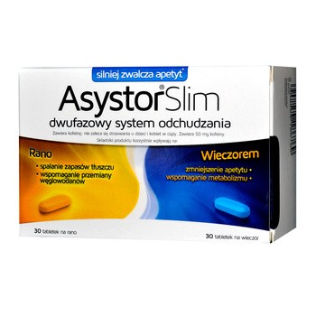 Asystor Slim, tabletki, 60 szt. (30 szt. na rano + 30 szt. na wieczór)