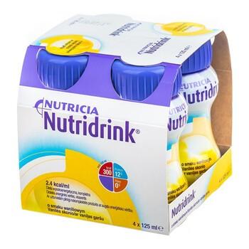 Nutridrink, smak waniliowy, płyn, 4 x 125 ml