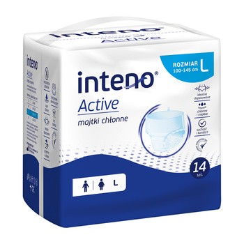 Inteno Active Majtki chłonne, L, 14 szt.