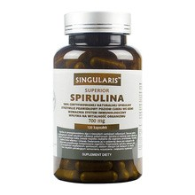 Singularis Spirulina 700 mg, kapsułki, 120 szt.