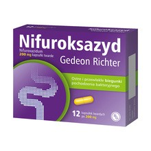 Nifuroksazyd Gedeon Richter, 200 mg, kapsułki twarde, 12 szt.