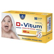 D-Vitum, witamina D dla niemowląt, 400 j.m., kapsułki twist-off, 96 szt.