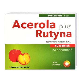 Acerola Plus Rutyna hec, tabletki, 50 szt.