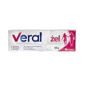 Veral, 10 mg/g (1%), żel, 55 g