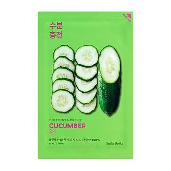 Holika Holika Pure Essence Mask Sheet - Cucumber, maseczka na bawełnianej płachcie z ekstraktem z ogórka, 20ml