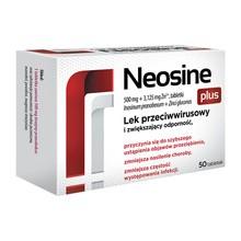 Neosine Plus 500 mg + 3,125 mg Zn2+, tabletki, 50 szt.