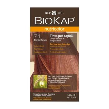 Biokap Nutricolor, farba do włosów, 7.4 kasztanowy blond, 140 ml