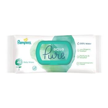Pampers Aqua Pure, chusteczki nawilżane dla niemowląt, 48 szt.