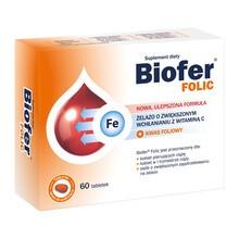 Biofer Folic, tabletki, 60 szt.