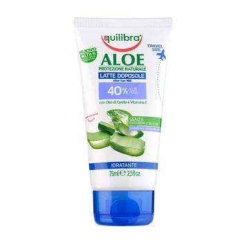 Equilibra Aloe, mleczko po opalaniu 40% aloesu, 75 ml