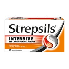 Strepsils Intensive bez cukru pomarańczowy, 8,75 mg, pastylki twarde, 16 szt.