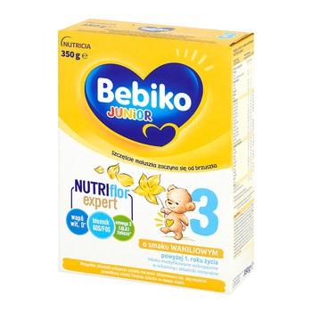 Bebiko Junior 3, mleko modyfikowane, proszek, smak waniliowy, 350 g