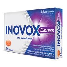 Inovox Express, pastylki twarde, smak pomarańczowy, 24 szt.
